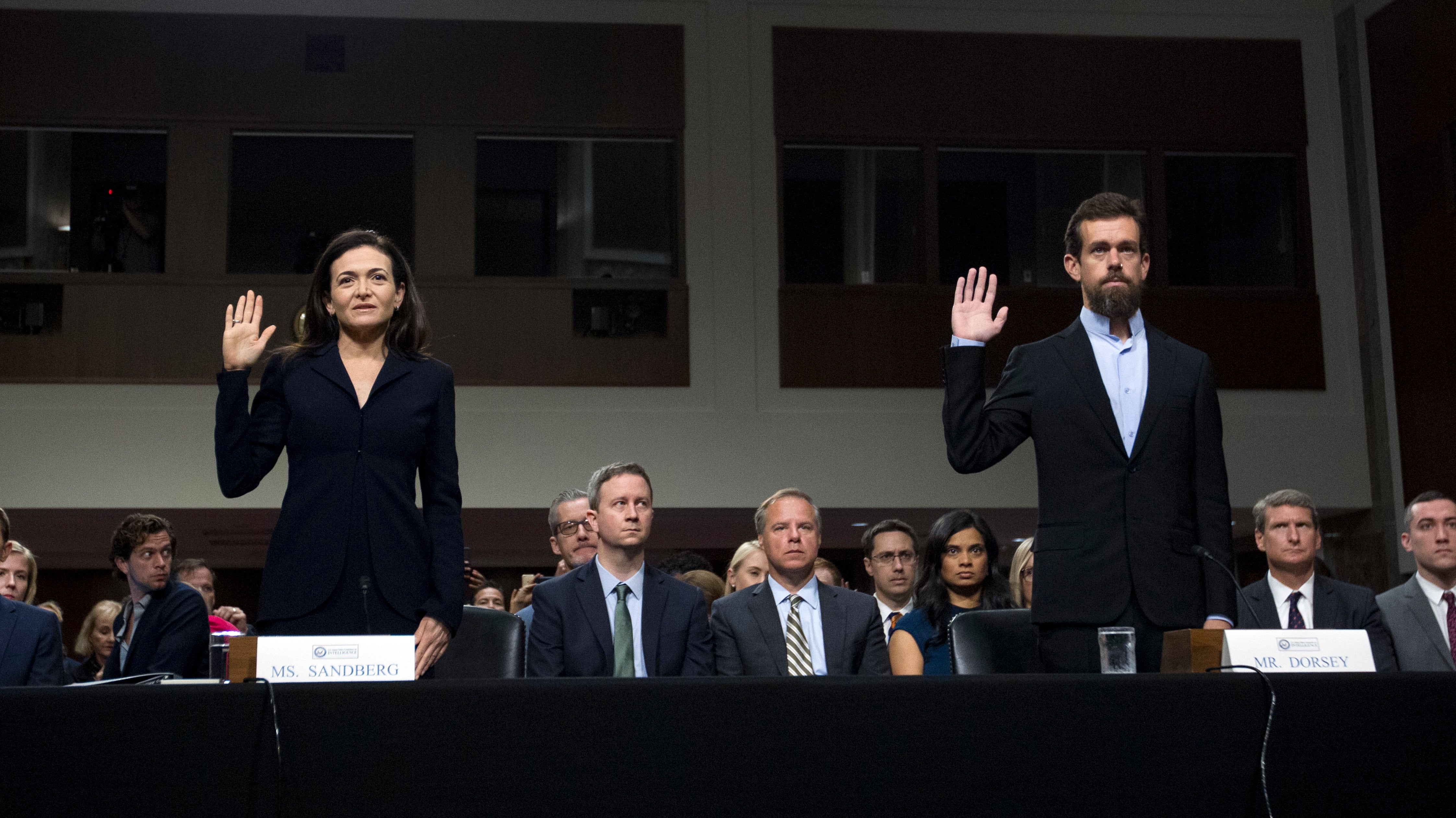 Facebook, Twitter Execs Admit Failures, Warn Of 'Overwhelming' Threat To Elections