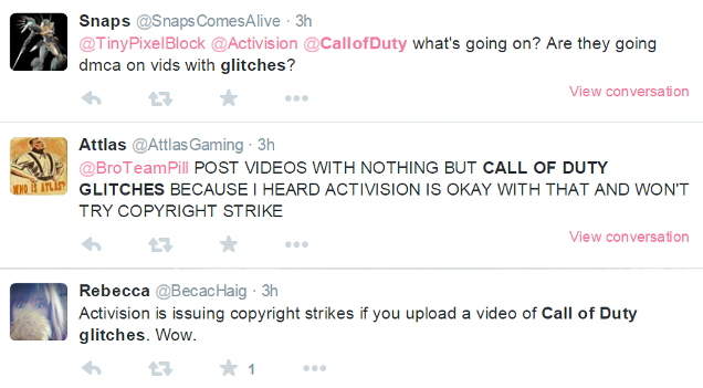 Activision Targets Call Of Duty Glitch Videos For Take Down