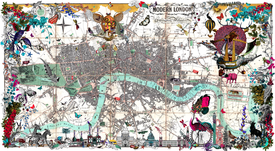 These Richly Detailed Maps Give the Modern World a Victorian Twist