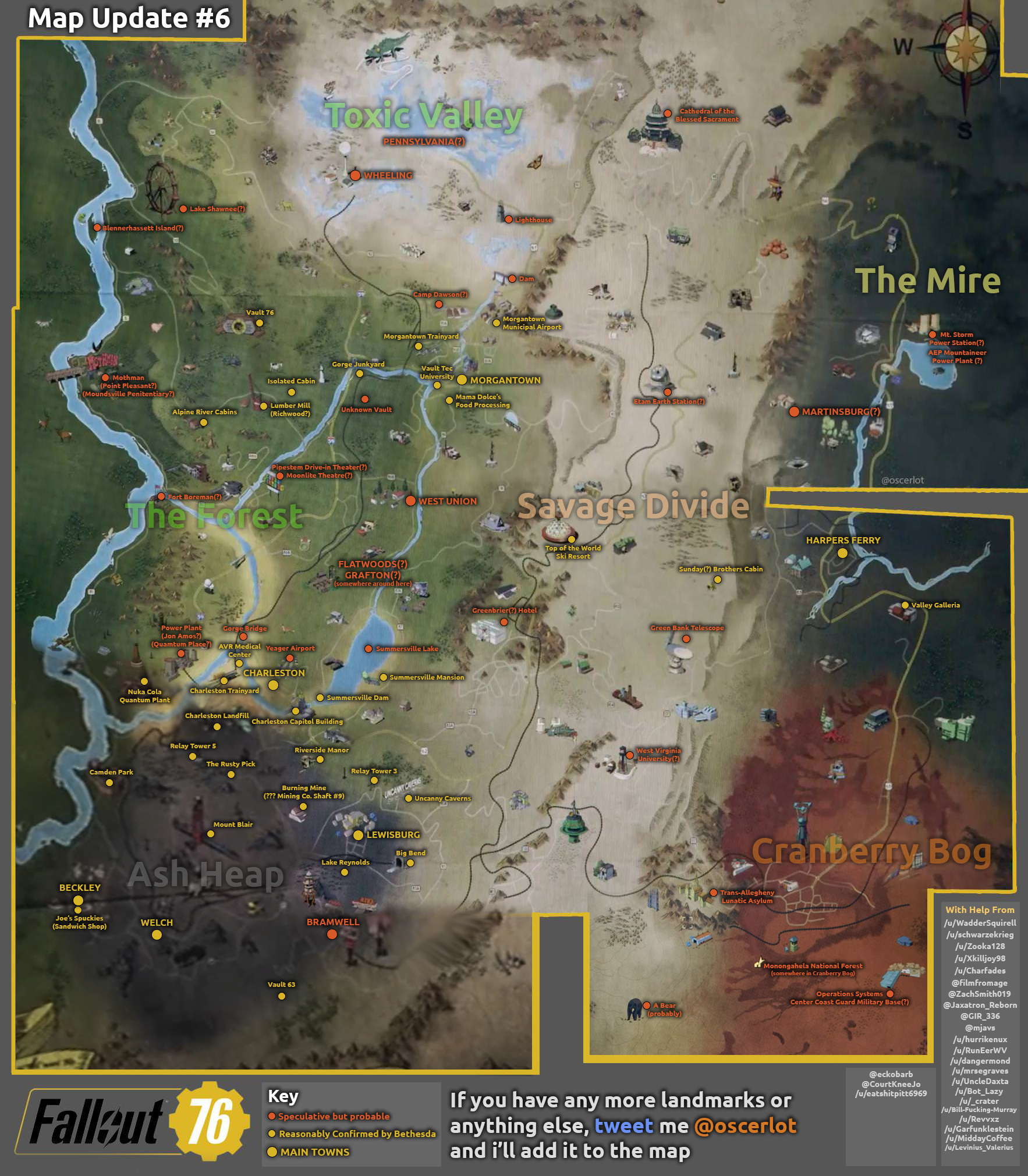 Fans Are Using Every Clue To Piece ther A Map Of Fallout 76 ... Mothership Zeta Location On Map on