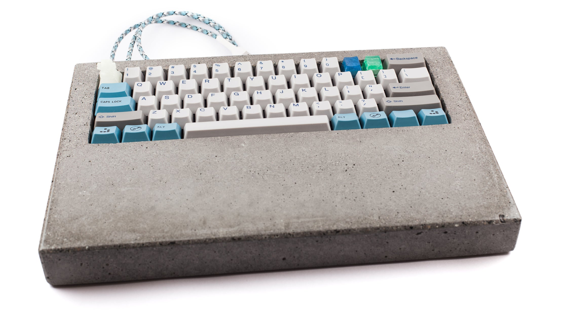 Picky Typist Builds A Custom Keyboard Out Of Concrete
