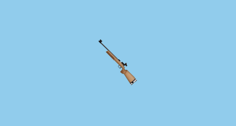 Who Made The Rifle Emoji Disappear?