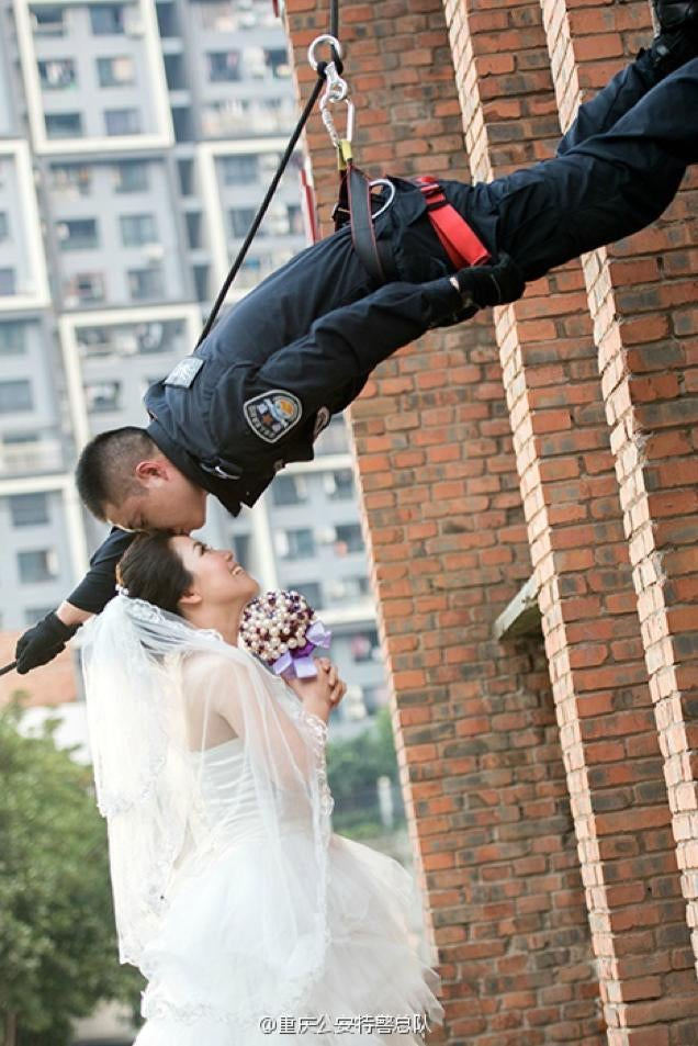 S.W.A.T. Team Wedding Photos Are More Romantic Than Tactical