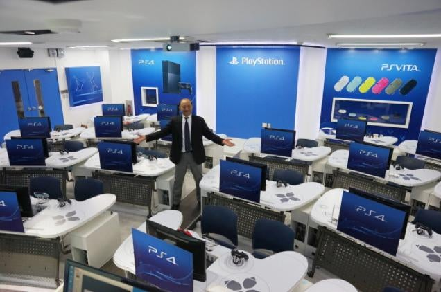 University's PlayStation Classroom has DualShock Desks