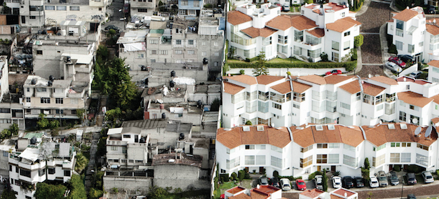 The stark difference between the rich and the poor, side by side