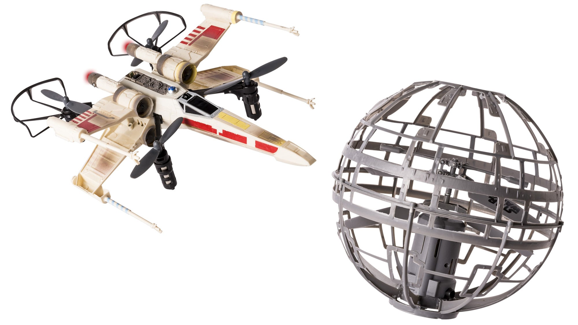 Pilot This X-wing Drone to Shoot Down an Auto-Hovering Death Star That Fires Right Back