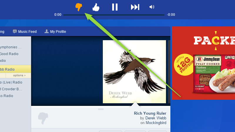 Stick To The Thumbs-Down Button In Pandora To Get A Better Variety Of Music