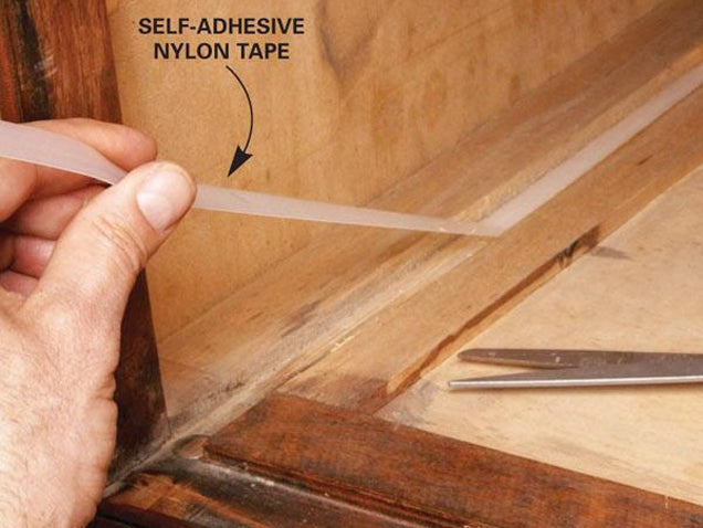 fix a sticking drawer with nylon tape - How To Fix A Drawer
