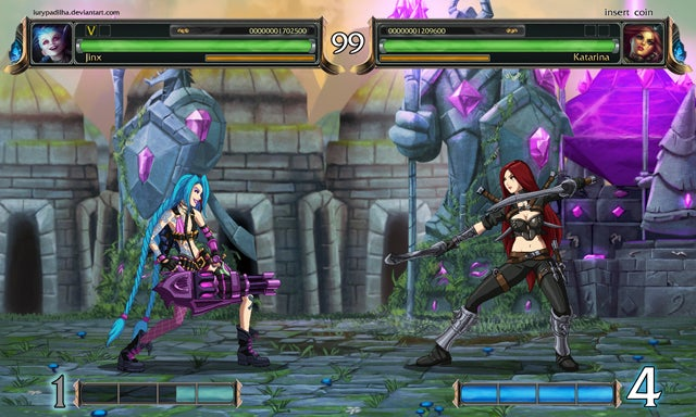 League of Legends, As a 2D Fighting Game