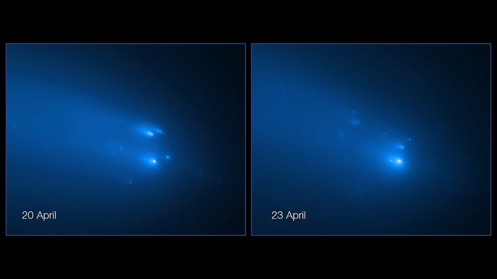 Hubble Captures Incredible Images Of Highly Anticipated Comet Breaking Up