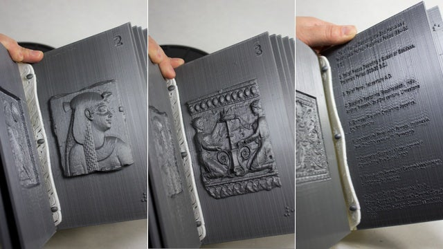 A 3D-Printed Book Lets You Touch Precious Art With Your Grubby Meathooks