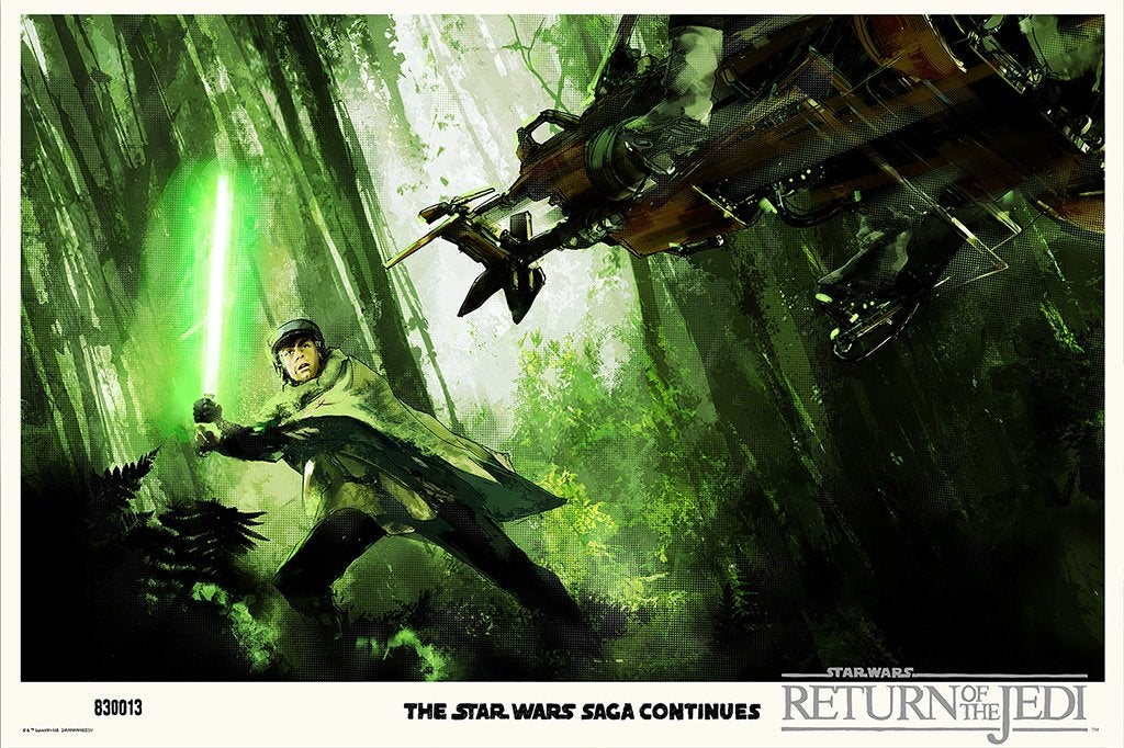 Endor Comes To Life In Jock's Mondo Poster For Return Of The Jedi