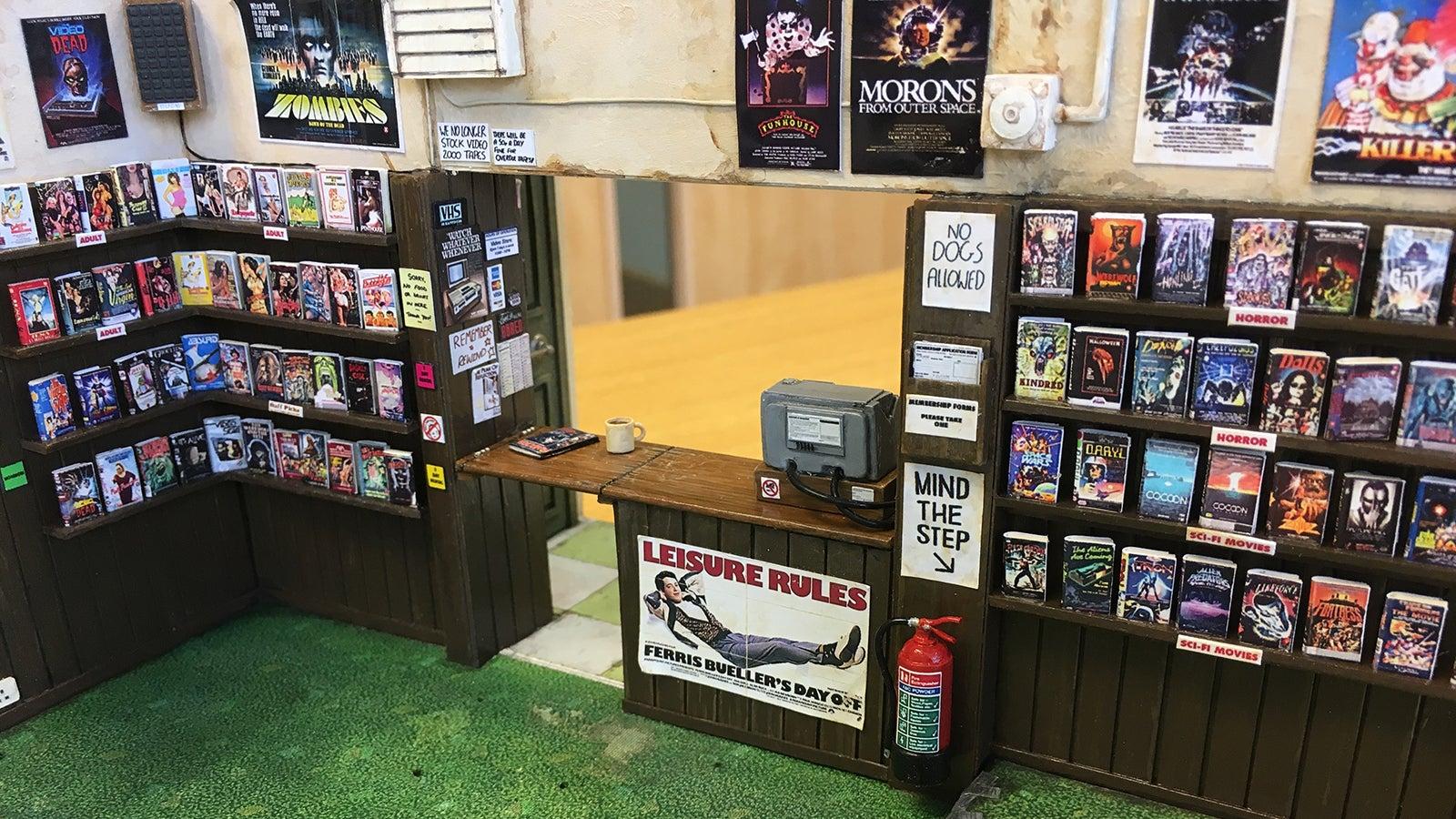 This Tiny Replica Video Store Offers Tiny '90s Nostalgia