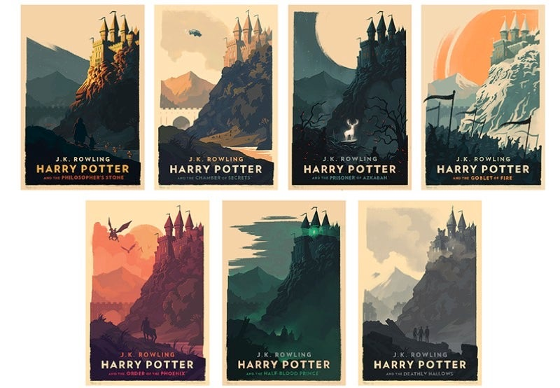 The Harry Potter Series Takes on a New Kind of Magic in These Lovely Posters by Olly Moss