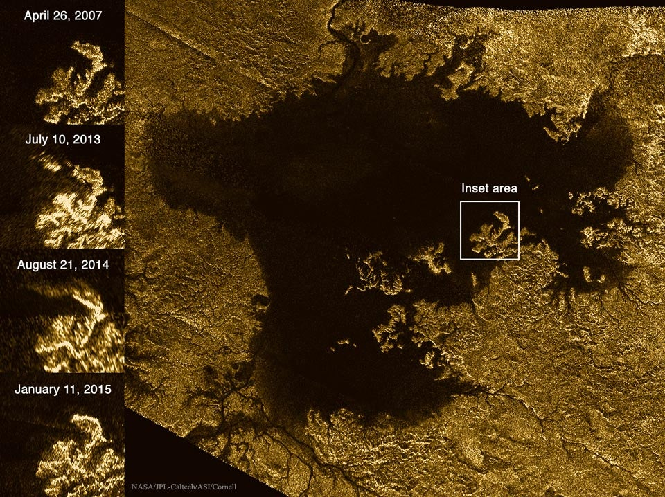 We Think We Know What These Mysterious Glimmers on Titan's Surface Are