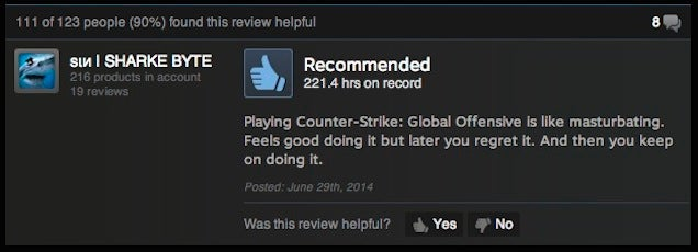 Counter-Strike: GO, As Told By Steam Reviews
