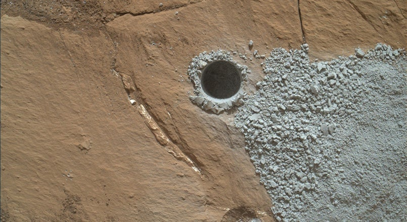 mystery rover curiosity white rock - photo #25