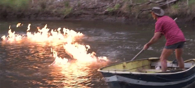 Watch a River Catch on Fire Because of Fracking