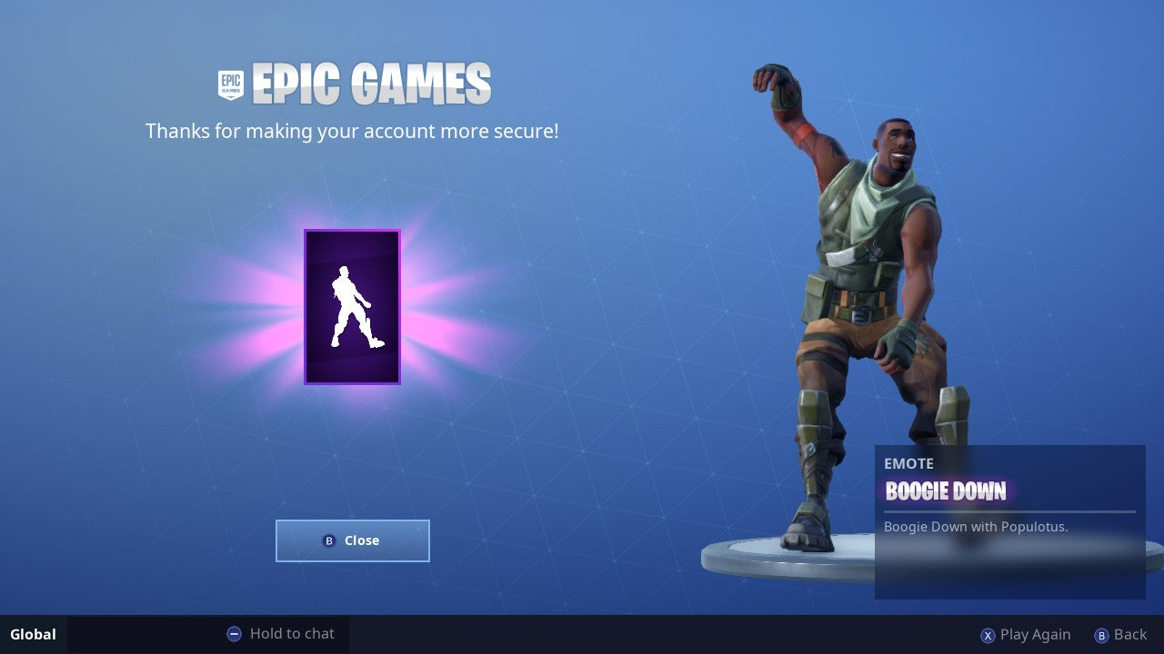 Fortnite Now Gives You A Reward If You Turn On Two-Factor Authentication