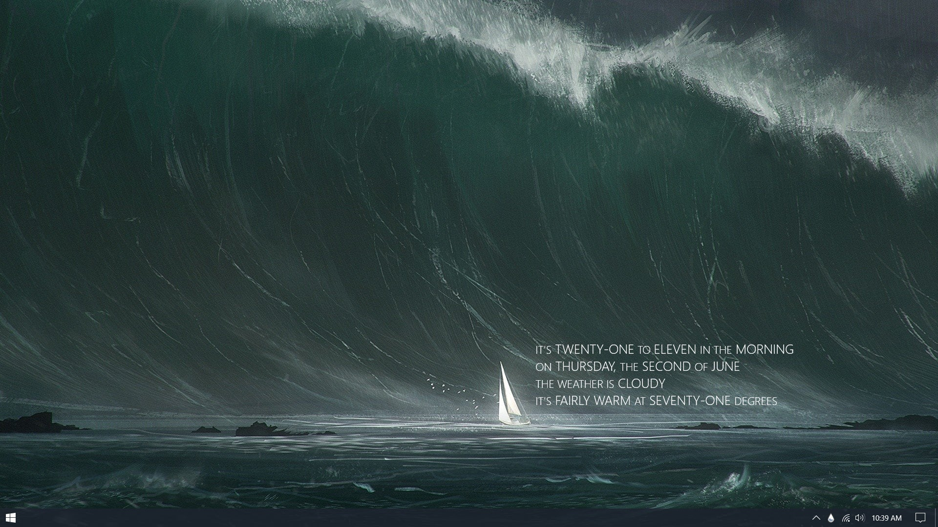 The Stormy Sea Desktop