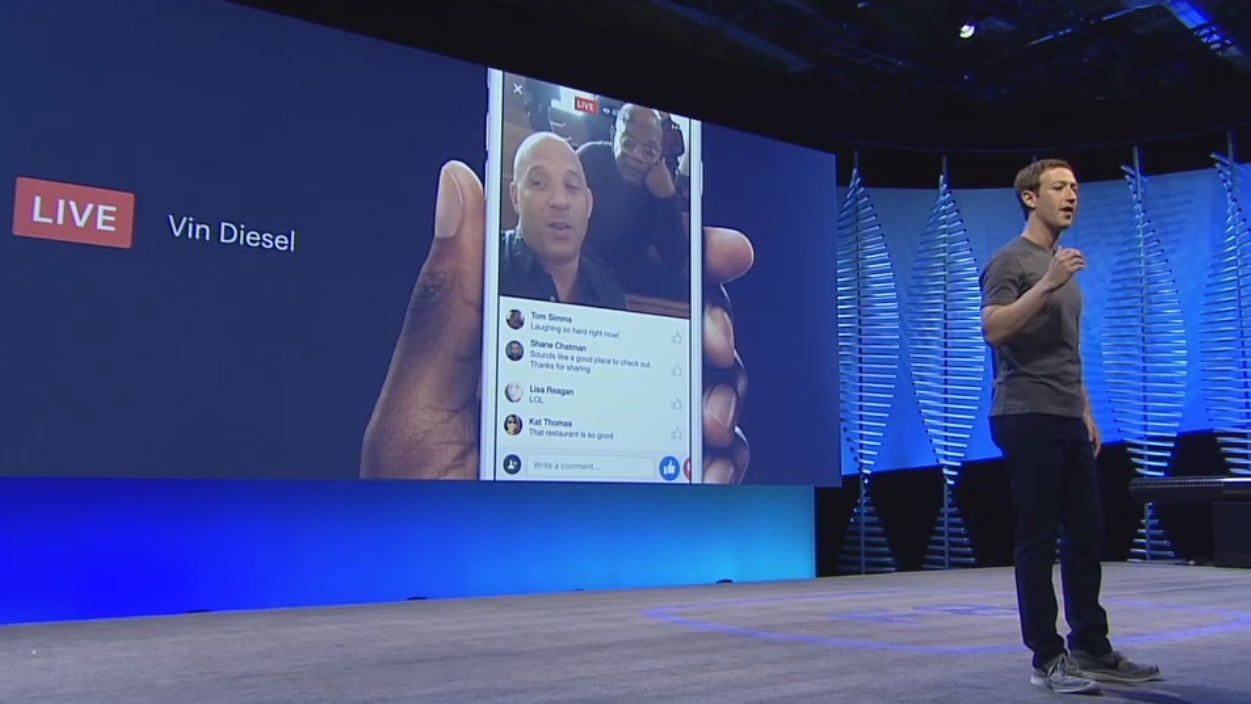 Facebook Opens Up Live Video to Other Apps and Devices