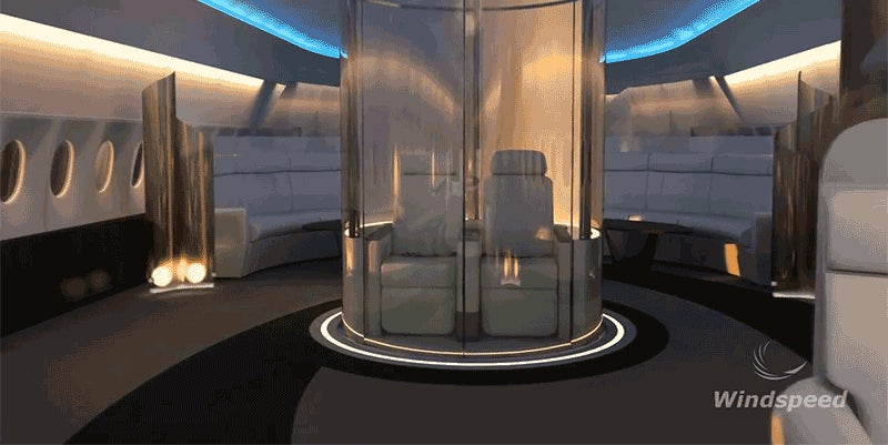 Opulent Air Travel Is Reaching a New Level of Lunacy with Seats On Top of the Plane