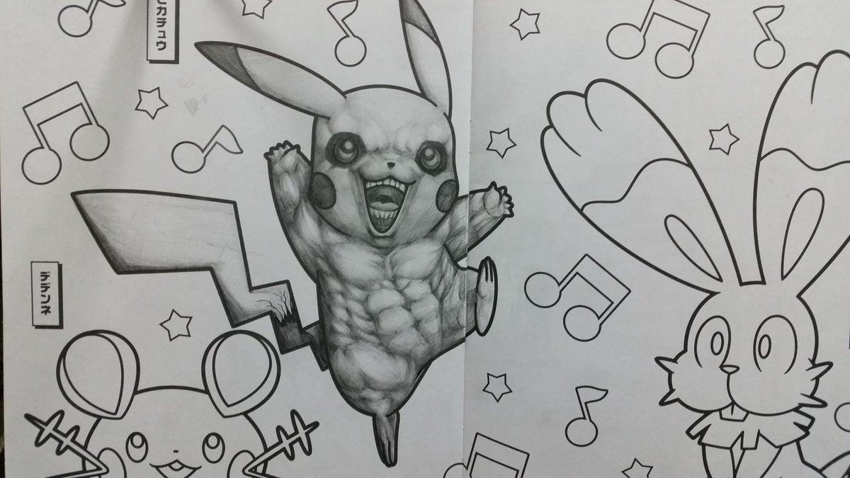 How To Make Pokémon Colouring Books Horrifying