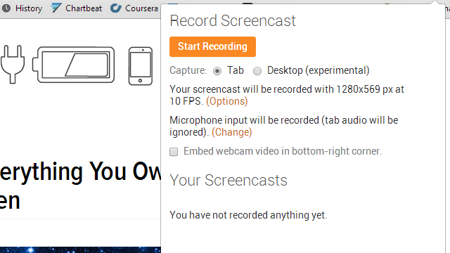 Screencastify Records Action In Your Browser Tab