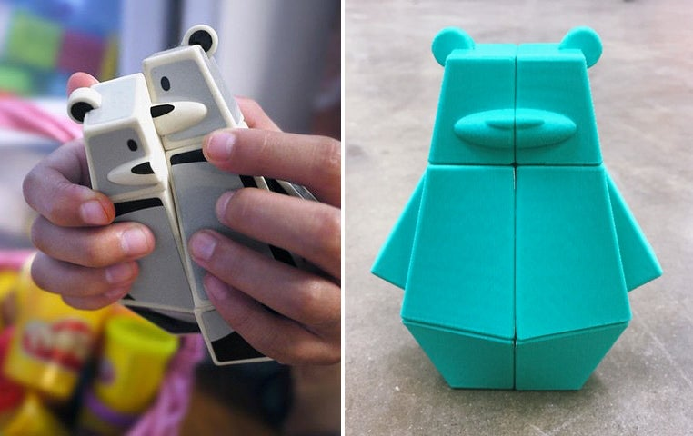 You Can 3D-Print This Kid-Friendly Rubik's Bear Puzzle For Free