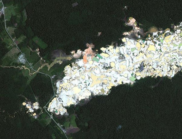 Satellite imagery reveals how gold mining is destroying tropical forests