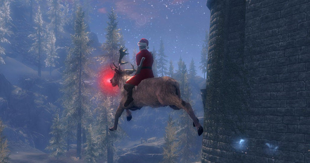 Santa Is Trying To Deliver Presents To Everyone In Skyrim
