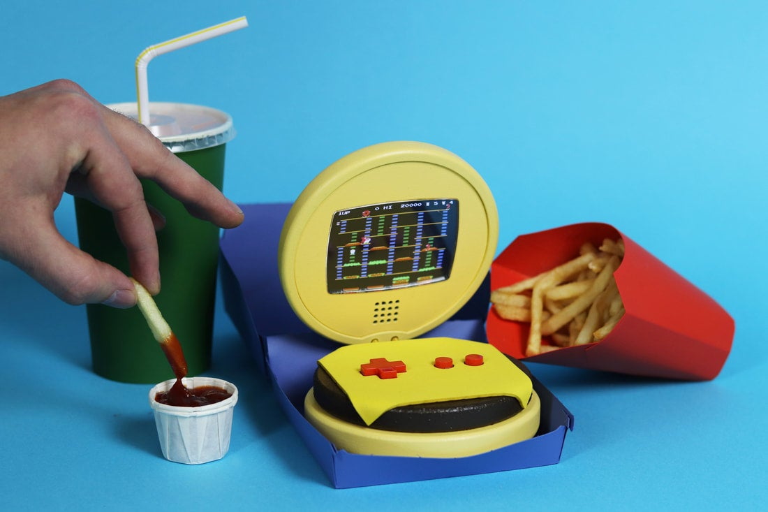 Here's A Wooden Cheeseburger That Plays Nintendo Games