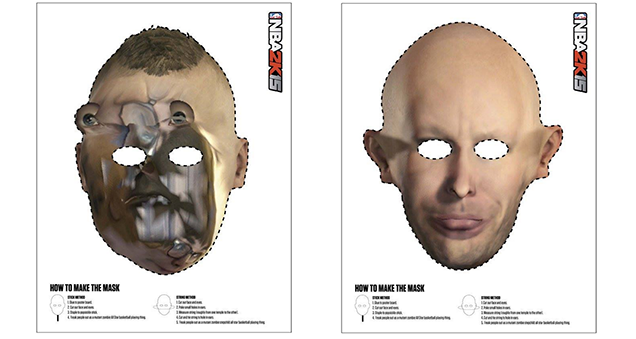 Broken Game Faces Inspire Awesome Halloween Masks