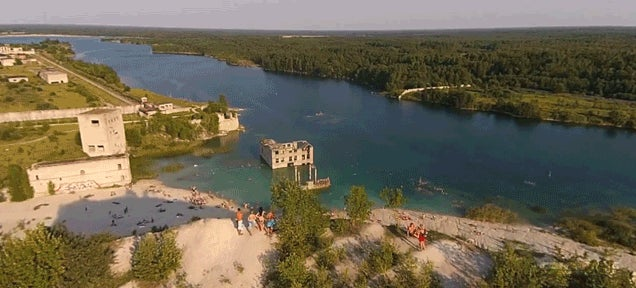 Abandoned Soviet forced labour camp oddly turns into cool fun beach