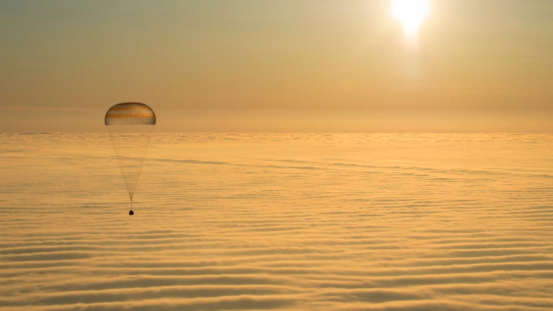 Watch Three Astronauts Land Back On Earth From The Space Station