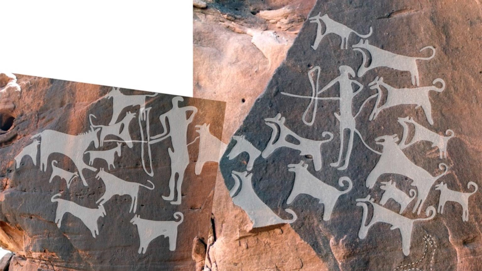 Ancient Cave Art Depicts Oldest Evidence Of Dogs Wearing Leashes
