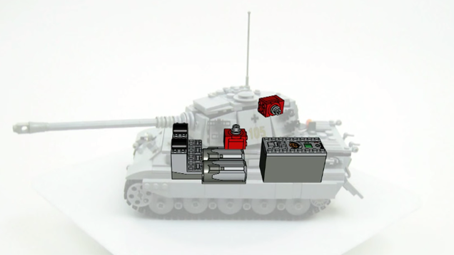 Motorised LEGO Tank Cries For A Diorama Built Around It