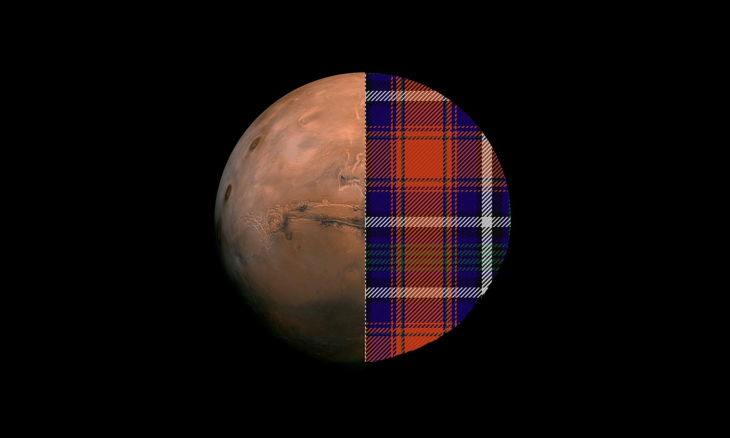 Mars Has Its Own Tartan Pattern