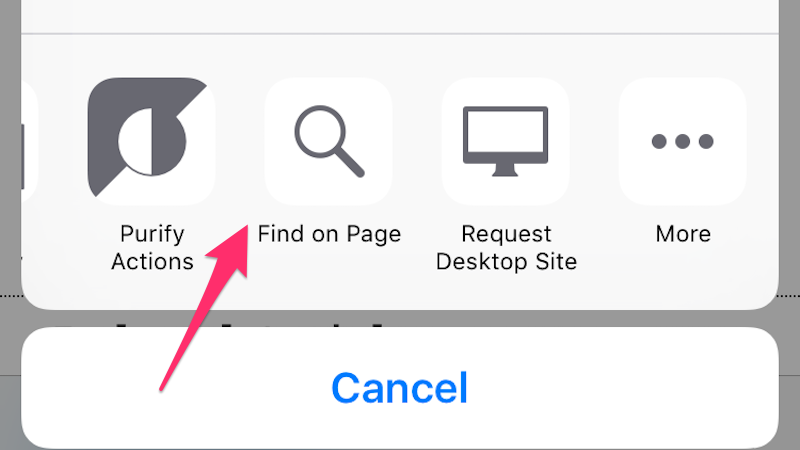 Find Keywords on Web Pages Quickly in iOS 9 with the Find on Page Button
