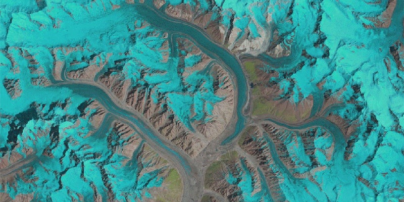 Watch 25 Years of Glacier Movement in Under a Second