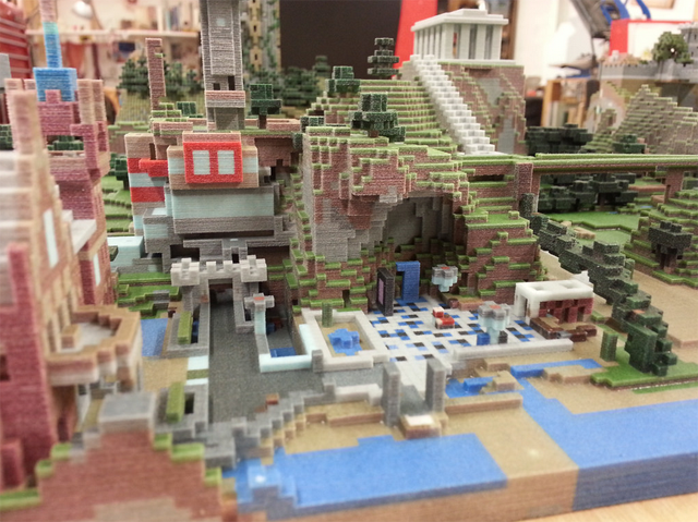 Minecraft Worlds, 3D-Printed. They're Amazing.