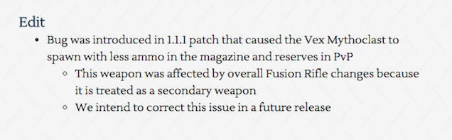 New Destiny Patch Notes Include Bug They Just Added