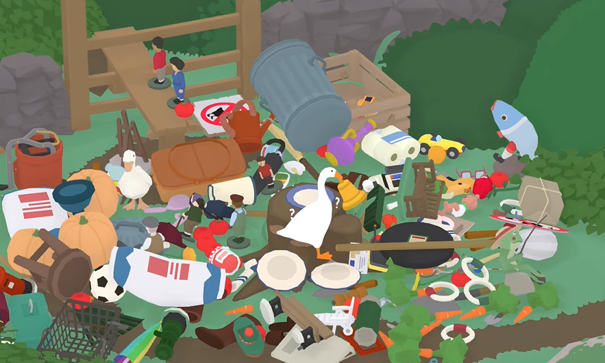Untitled Goose Game Player Steals Every Last Thing, Drops It All Down A Hole