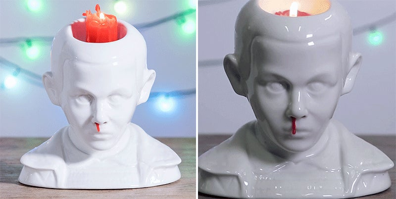 Ceramic Car Wax >> This Stranger Things 'Eleven's Bleeding Nose' Candle Holder Is Just The Creepiest | Gizmodo ...