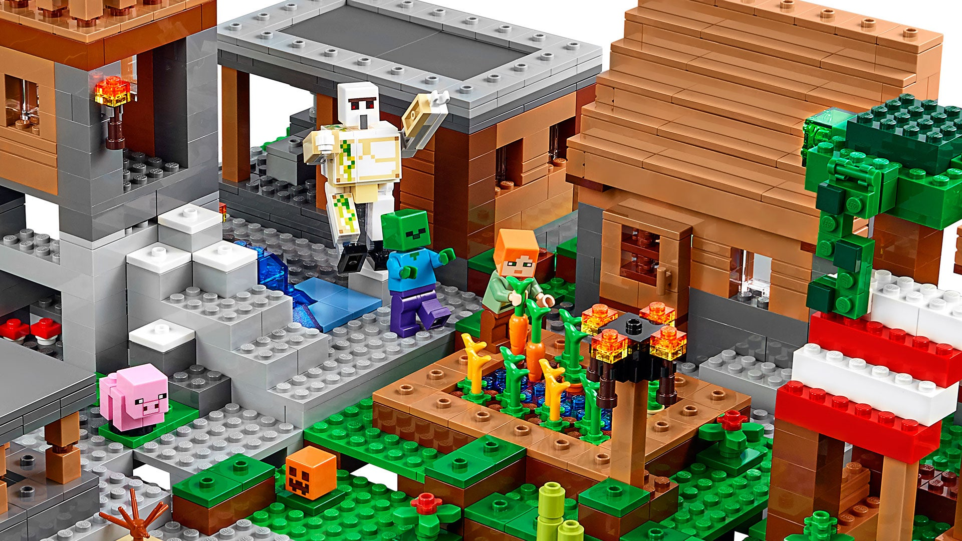 the village is the biggest official lego minecraft set yet - Biggest Minecraft House In The World 2016
