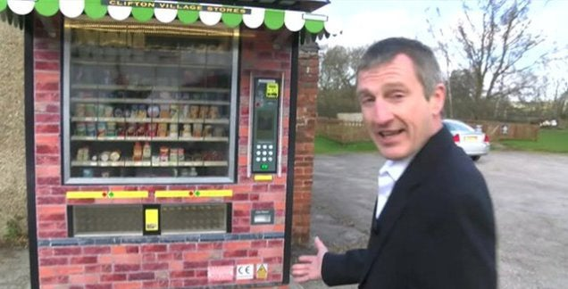 Single Vending Machine Replaces Last Shop in English Town
