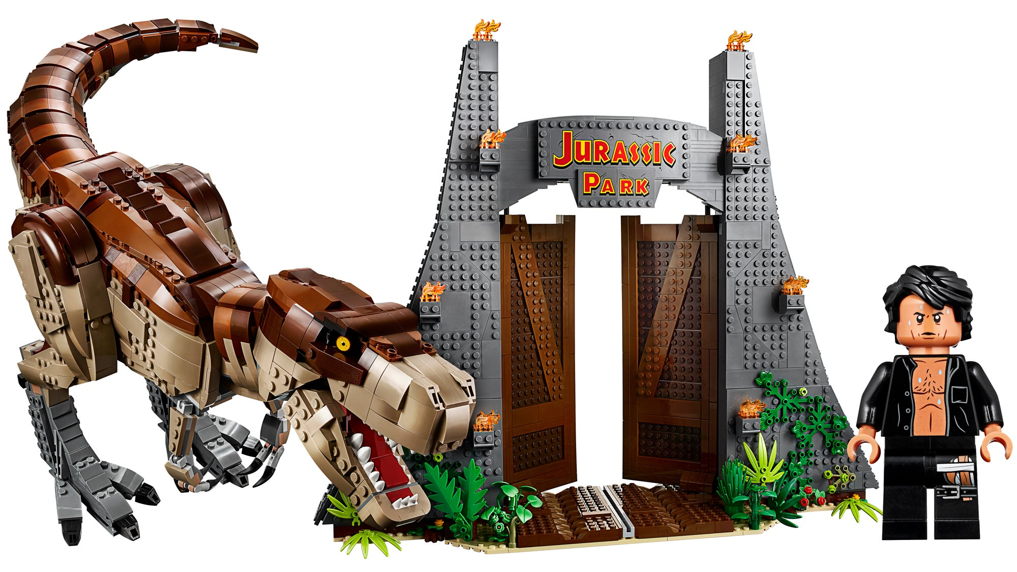 A Bare Chested Jeff Goldblum Is The Only Reason You Need To Grab This Epic Lego Jurassic Park Set