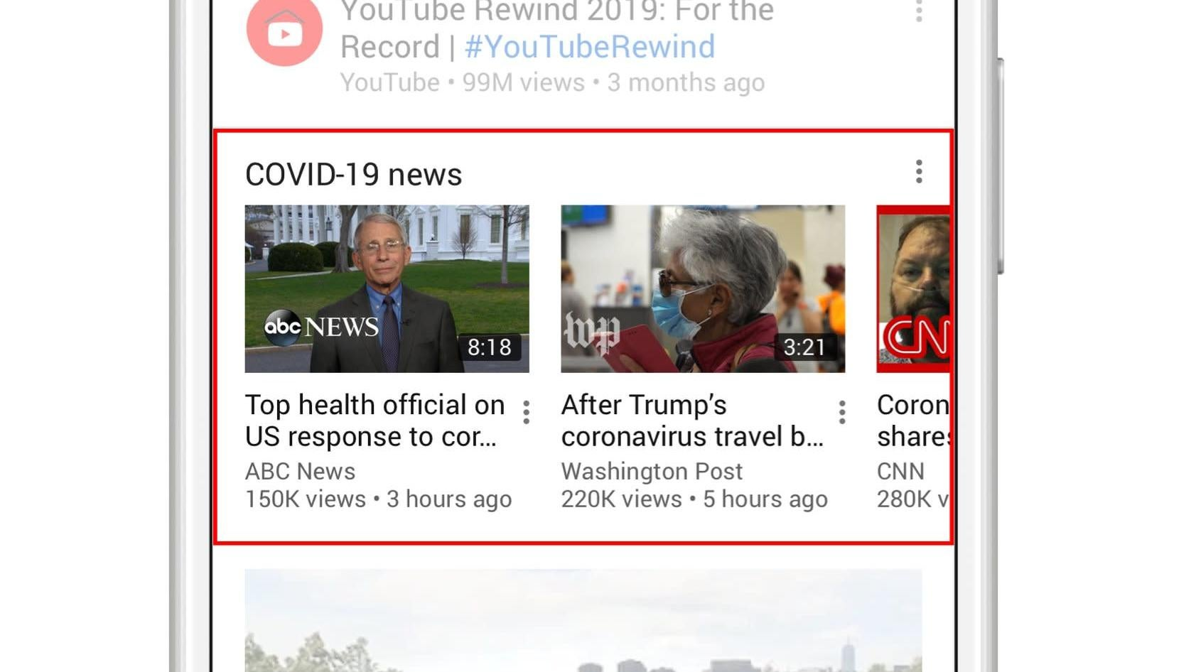 YouTube Launches Verified Coronavirus Coverage Hub On Homepage
