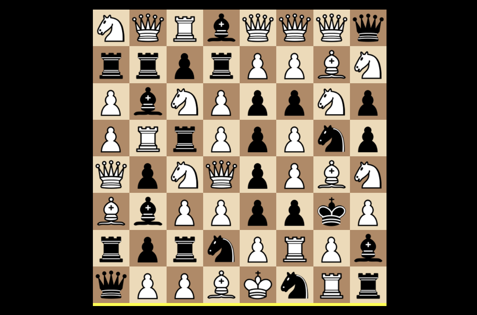 Jumbling The Rules Of Chess, Eight Different Ways