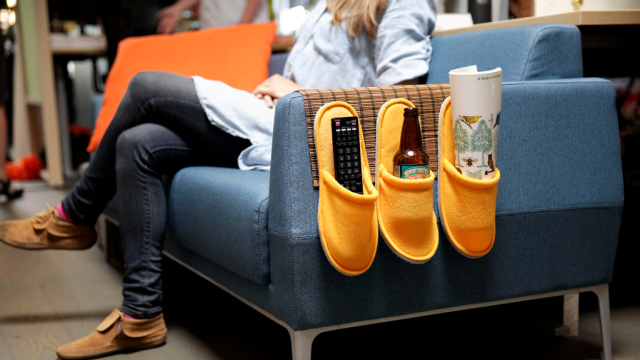 Turn Bathroom Slippers Into a DIY Couch Caddy